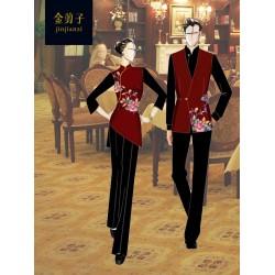 北京金剪子酒店服务员工作服定制-金剪子服装定制