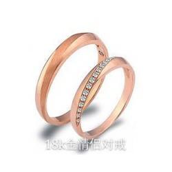 水晶戒指|热销肇庆的高品质18k金情侣对戒