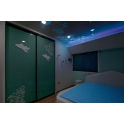 影音室光纤星空吊顶做法及装修效果图