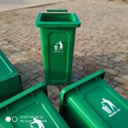 厂家直销 铁垃圾桶 户外120升挂车垃圾桶