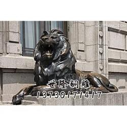 包头铜狮子、世隆铜雕塑、铜狮子加工厂