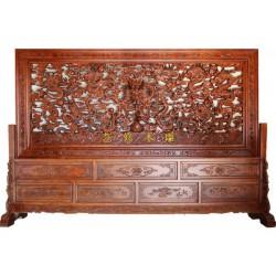 山西现代木雕屏风、艺修木艺厂家直销、现代