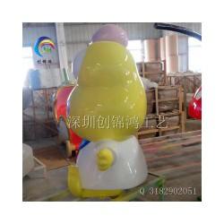 深圳玻璃钢大眼青蛙造型雕塑厂家推荐,供销