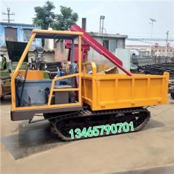 厂家定做四缸翻斗履带运输车 修水渠工程专
