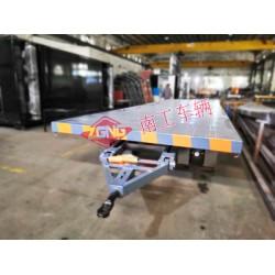 20T重型平板拖车 无动力全挂型