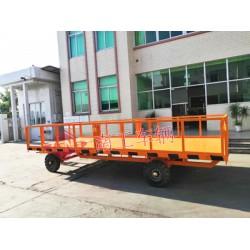5吨护栏型平板拖车 工业全挂车