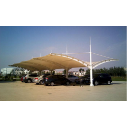 湖北停车棚厂家 汉泰遮阳棚 仙桃公交充电桩膜结构雨棚维修