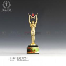 公 安部奖杯 男女天使警 察金属奖杯 警 用纪念奖牌定做厂家