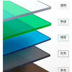 办公室隔断PC透明板 蓝色阻燃板 采光耐力板