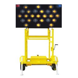 太阳能拖挂式工程导向车 拖挂式施工导向指示车