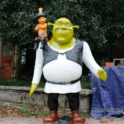 电影院怪物史莱克雕塑 仿真人物摆件宣传装饰