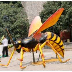专业制作玻璃钢蜜蜂雕塑 昆虫模型摆件