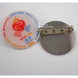 广州厂家制作印刷徽章、彩印刷襟章、金属印刷徽章定制