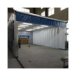 移动伸缩喷漆房的特点及应用