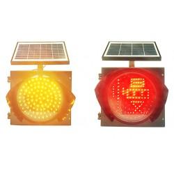 佛山大成交通设施厂家 太阳能黄闪红慢灯 黄闪红慢灯生产厂家