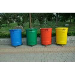 定制批发 垃圾桶 环卫圆桶 300升挂车铁垃圾桶