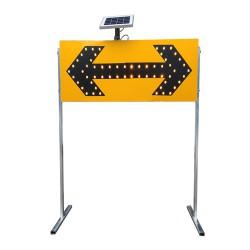 粤盾交通铝制太阳能导向灯 施工警示灯 箭头灯诱导标识灯