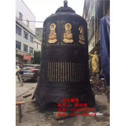 寺庙铜钟_铜钟生产铸造_寺庙铜钟施工图片